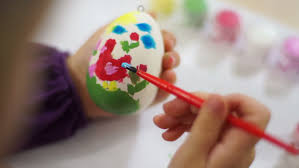 Decorate Easter Eggs Video by Mother And Child Decorating An Easter Egg Stock Footage Video