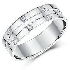 palladium jewellery 6mm palladium flat court men s diamond set wedding ring