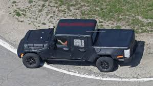 jeep truck spy photos new jeep truck spy shots display upgraded bed other production