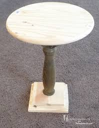 How To Build End Table Plans by Remodelaholic Diy Pedestal Accent Table
