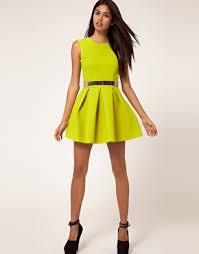 neon green dress u0026 black wedges on the hunt