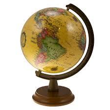 world globe home decor 6 u201d mini spinning desk globe small antique shading world wood base
