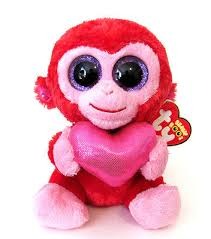 ty beanie boos charming 6 pink heart valentine plush stuffed