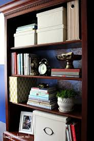 Dark Cherry Bookshelf Lighten Up A Dark Bookcase Without Paint Home Office Makeover