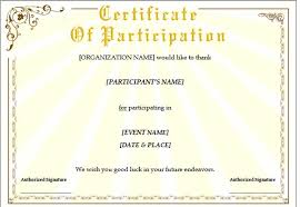 certificate of participation template word sogol co