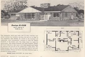1950s Ranch House Plans Vintage House Plans 211h Antique Alter Ego