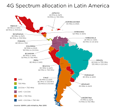 Latin And South America Map by Spectrum 4g Licensing Map 4 En Jpg