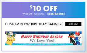 custom banners personalized banners u0026 signs party city