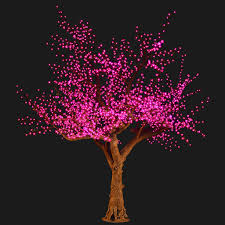 bright baum 11 ft artificial purple led cherry blossom tree