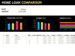 home loan comparison office templates