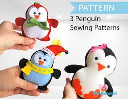 3 penguin patterns felt penguin patterns pattern