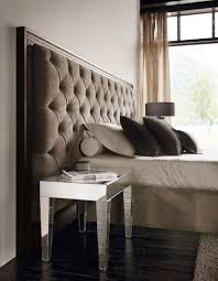Upholstered And Wood Headboard Double Bed Contemporary With Upholstered Headboard Wooden