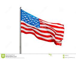 Flag Im Amerikanische Flagge Im Wind Auf Einem Weißen Hintergrund