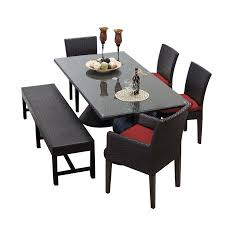 Rectangle Patio Dining Table Saturn Rectangular Outdoor Patio Dining Table With 4 Chairs And 1