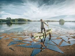 mirror glass broken lake impact by erik johansson picture of the