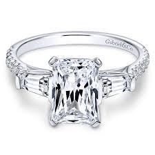 cut wedding rings emerald cut engagement rings gabriel co