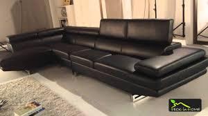 canapé d angle avec méridienne canapé d angle en cuir noir 4 places avec méridienne d