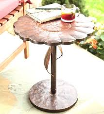 Patio Side Tables Metal Design Patio Side Table Metal Retro Mesh Vintage