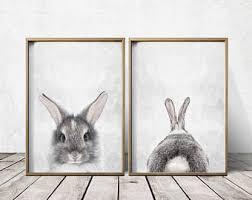 rabbit rabbit wall nursery bunny rabbit print bunny rabbit wall