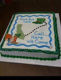 moving cake cake for someone moving from pa to california 16 x