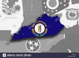 kentucky flag map illustration of the state of kentucky silhouette map and flag its