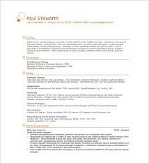 Resume For Software Testing Experience One Page Resume Template U2013 11 Free Word Excel Pdf Format