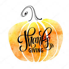 watercolor design style happy thanksgiving day give thanks autumn
