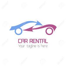 car service logo vector car rentals label vector logo design template concept