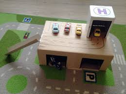 diy toy garage out of cardboard boxes diy ideas pinterest