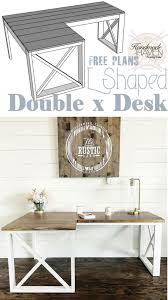 Diy Office Desks L Shaped X Desk Diy Office Desk Office Desks And