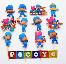 pocoyo cake toppers 12 pocoyo birthday party cupcake cake sticker toppers 7 50 via