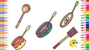 coloring pages of kitchen things how to draw kitchen items coloring pages kitchen kids learn