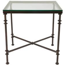 Large Side Table Pompidou Large Metal Glass Side Table Oka Europe