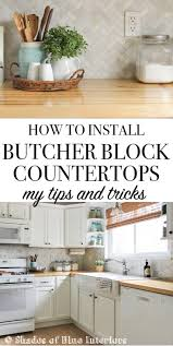 25 best butcher block countertops ideas on pinterest butcher how to install butcher block countertops including tips on making straight cuts and using