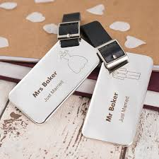 wedding luggage tags personalised stainless steel luggage tags gettingpersonal co uk