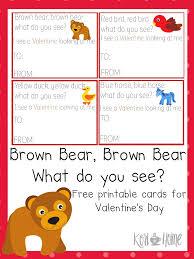 free brown bear brown bear valentine u0027s cards