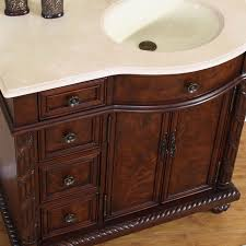 Victoria Bathroom Vanity Single Sink Cabinet English Chestnut - Elements 36 inch granite top single sink bathroom vanity