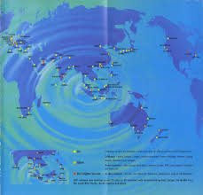Singapore Airlines Route Map by Airline Memorabilia Singapore Airlines 2000
