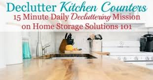 What Is The Effect Of Oven Cleaner On Kitchen Countertops by How To Declutter Kitchen Counters U0026 Make It A Habit