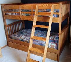 Bunk Beds With Trundle Oak Bunk Beds With Trundle Rugged Cross Fine Art Woodworking