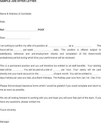 Offer Letter Exle business offer letter sle fishingstudio