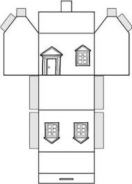 Printable Model House Template | this is the 3d mosque model template with instructions which has