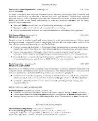 Mechanical Engineering Resume Sample by Engineering Resume Template Free Recentresumes Com