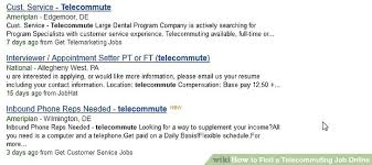 How To Find Resumes Online by How To Find A Telecommuting Job Online 6 Steps With Pictures