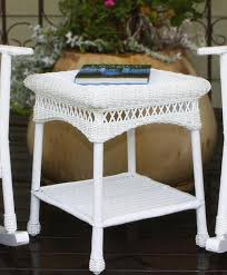 white wicker side table white wicker side table table designs