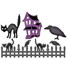 halloween scene clipart check out these spellbinders halloween dies