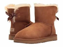 ugg mini bailey bow on sale s shoes ugg mini bailey bow ii boots 1016501 chestnut