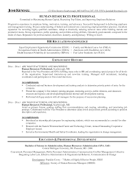Resume For Human Resources 100 Sample Resumes For Hr Professionals 10 Examples Of