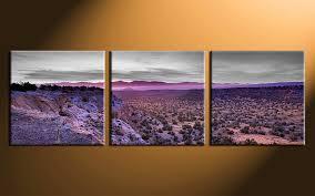 Landscape Canvas Prints by 3 Piece Landscape Artwork Purple Canvas Art Prints