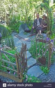 willow gazebo kim wilde and richard lucas sitting in a willow gazebo in their